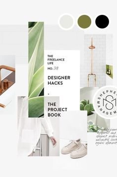 TFL 39: DESIGNER HACKS - THE PROJECT BOOK moodboard / palettes / color / design / inspiration
