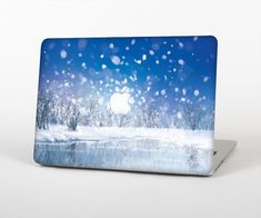 """The Frozen Snowfall Pond Skin Set for the Apple MacBook Air 13"""" from Design Skinz, INC."""