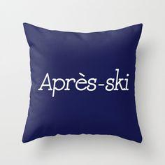 Après Ski Pillow Cover, indigo pillow cover, ski decor, mountain cabin decor, blue , ski gifts by RiverOakStudio on Etsy https://www.etsy.com/listing/200633467/apres-ski-pillow-cover-indigo-pillow