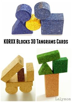 KORXX Blocks Printable Tangrams Cards - KORXX are eco-friendly, all natural toys for kids that encourage imagination and fine motor skills. Check them out today! #KORXX