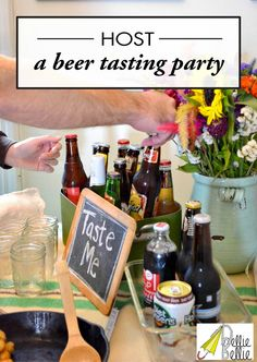 Click here to learn How to Throw a Beer Tasting Party! Have your friends bring over their favorite beer and other drinks for a sure-fire good time.
