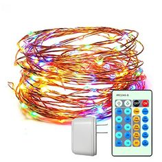 CREATIVE DESIGN Starry String Light 150 LEDs 49ft Dimmable Copper Wire Light with Remote Control and ETL Certified Power Adapter for Party Holiday Christmas GardenDecorationMulticolored >>> Find out more about the great product at the image link. (This is an affiliate link) #ChristmasLightsIndoor