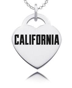 California Golden Bears Silver Heart Charm