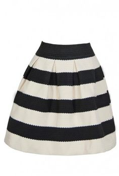 The Bold Black and Ivory Textured Stripe Skirt is made of a Textured Fabric with Black and Ivory Stripe Pattern throughout. This would make a cute Black and Ivory Stripe Skirt, an adorable Striped A Line Skirt, and a Black and Ivory Textured Stripe Skirt Cute Fashion, Look Fashion, Fashion Beauty, Fashion Outfits, Womens Fashion, Modest Fashion, Pretty Outfits, Cute Outfits, Pretty Dresses