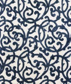 "Les Indiennes; #86 Honoree Pattern Dimensions: Continuous Print Vertical Repeat: 5"", (13cm) Horizontal Repeat: 6.75"", (17.5cm)"