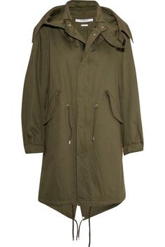 GIVENCHY Hooded printed cotton-twill parka. #givenchy #cloth #jackets