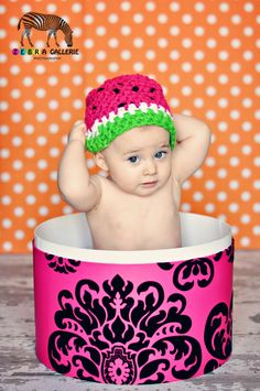 ANY SIZE SALE Watermelon Hat 0-3 Toddler 3-6 Child Mos Girl Newborn Baby Photo Studio Prop Photography Hats Orchard