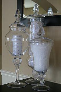 Winter apothecary jar