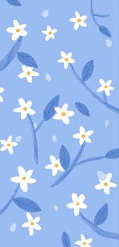 Acid Wallpaper, Flowery Wallpaper, Cute Patterns Wallpaper, Kawaii Wallpaper, Aesthetic Iphone Wallpaper, Aesthetic Wallpapers, Wallpaper Backgrounds, Phone Backgrounds, Blue Wallpapers