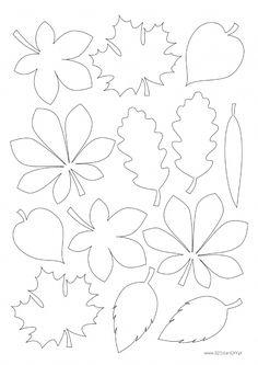 Autumn Crafts, Fall Crafts For Kids, Autumn Art, Autumn Leaves, Art For Kids, Fall Paper Crafts, Leaf Template, Flower Template, Templates