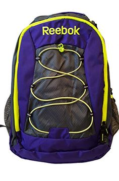 Reebok Keenan Backpack, Grey/Eggplant/Safety Yellow, One Size Best Kids Backpacks, Backpacks For Sale, Best Amazon Products, North Face Backpack, Vacation Ideas, Nice Tops, Travel Style, Eggplant, Reebok