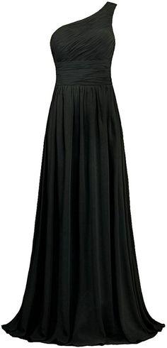 ANTS Women's Pleat Chiffon One Shoulder Bridesmaid Dresses Long Evening Gown  | Sale:  $39.98 - $89.99 |