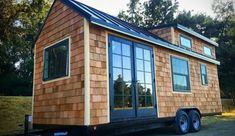 Cedar Shake Tiny House Shell – Tiny House for Sale in San Diego, California – Tiny House Listings - New ideas Tiny House Layout, Small Tiny House, Tiny Houses For Sale, Tiny House On Wheels, Tiny House Design, House Layouts, Small Houses, Tiny House Company, Tiny House Listings