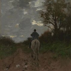 The kind of work Vincent saw around him in The Hague were 'symphonies in grey'. Vincent took painting lessons with the artist Anton Mauve. Mauve also worked mainly in grey and blue tones. Homeward Bound, Anton Mauve (1881) #VanGoghMuseum