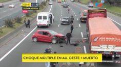 Autopista del Oeste un muerto y cinco heridos en un choque de 7 autos - Infobae.com