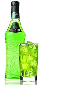 Midori Sour   1 part Midori  1 part Sweet and Sour mix  Garnish with a cherry