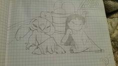 Stitch and Lilo dancing