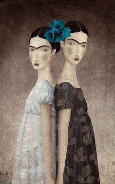 """""""Las dos Fridas"""" por Gabriel Pacheco"""