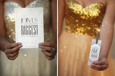 Canvas Stationery Boutique Wedding friends Glitz, Glam and Gold Styled Shoot. Photography by Custo Photo Gold Wedding, Wedding Day, New Years Eve Weddings, One Fine Day, Bespoke Design, Glitz And Glam, Gold Style, Favours, Pretty Little