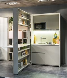 Hideaway lacquered kitchen KITCHEN BOX by CLEI