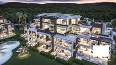 Extraordinary Real Estate Investment product: 276 Luxury Apartments For Sale in Estepona, La Costa del Sol By Nok, builders, architects and investors in Marbella & Madrid. Dream Home Design, Modern House Design, Dream Mansion, Fancy Houses, Modern Mansion, Luxury Homes Dream Houses, Modern Architecture House, Dream House Exterior, Villa Design