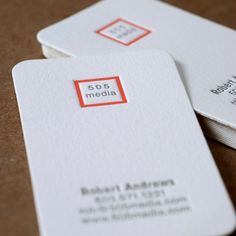 Custom Personalized Letterpress Business Cards  TwoSided One