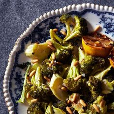 Roasted Broccoli with Lemon and Pine Nuts | Dinner parties made simple thanks to F&W's simple recipes. Read on for more.