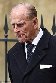 Prince Philip attending Easter Sunday services along with other members of the Royal Family April 5, 2015