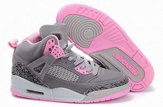 Women Air Jordan Shoes 3.5 grey pink