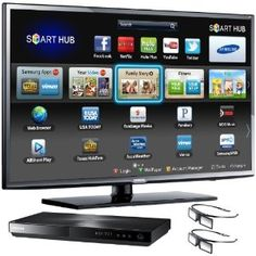 Amazon.com: Samsung UN55EH6070 55-Inch 1080p 120Hz LED 3D HDTV with 3D Blu-ray Disc Player (Black): Televisions & Video