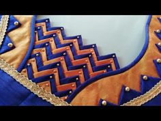 Blouse Design | fashion designing - YouTube New Saree Blouse Designs, Patch Work Blouse Designs, Cutwork Blouse Designs, Hand Work Blouse Design, Simple Blouse Designs, Stylish Blouse Design, Diy Blouse, Blouse Patterns, Sleeves Designs For Dresses