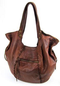 Lucky Brand Brown Lamb Leather Large Hobo BAG Handbag Purse Awesome | eBay