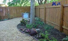 small backyard....mostly hardscape with smaller planting areas and no grass