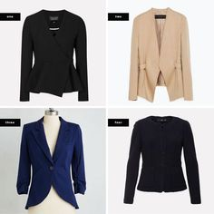Find the Best Blazer for Your Body Shape Casual Blazer Women, Blazers For Women, Blazer Outfits, Blazer Fashion, Simple Outfits, Casual Outfits, Casual Dresses, Hourglass Figure Outfits, Pear Shaped Women
