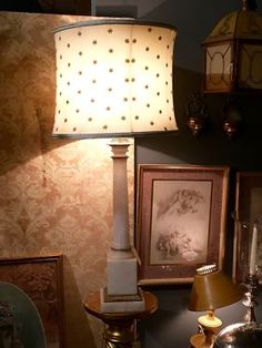 """White Marble Lamp On Sale   34"""" High   Was $195 Sale Price $117  Dealer #1018  Lost. . .Antiques 1201 N. Riverfront Blvd. Dallas, TX 75207  Moving Sale at Lost. . .Antiques Everything Goe"""
