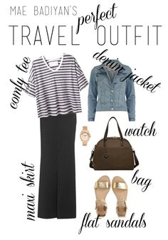 perfect+travel+outfit+airport+style+maxi+skirt+lo+sons+omg+bag+striped+tee+maxi+skirt+denim+jacket.jpg 700×1,000 pixels