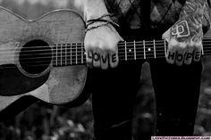 Guitar Couple | guitar, play, boy, love, hope, emo, sad | lovepicturex
