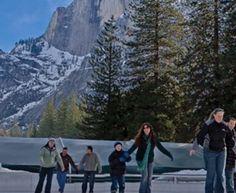 Curry Village Ice Rink - Curry Village, CA  #Yuggler #KidsActivities #IceSkating