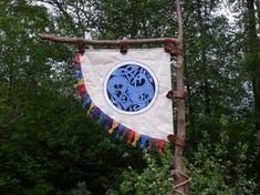 Viking Banner and my personal emblem Viking Party, Medieval Party, Medieval Market, Costume Viking, Viking Reenactment, Viking Dragon, Viking Age, Vikings Banner, Grandeur Nature