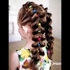 Bright summer braids # summer Braids for kids Easy Toddler Hairstyles, Baby Girl Hairstyles, Easy Little Girl Hairstyles, Pretty Hairstyles, Kids Hairstyle, Hair For Little Girls, Cute Hairstyles For Toddlers, Toddler Hair Dos, Childrens Hairstyles