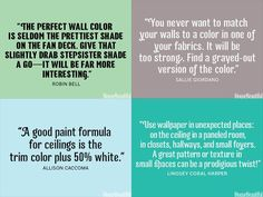 PAINT TIPS :: 35 DECORATING SECRETS From Top Interior Designers | #diy #housebeautiful #interiordesign