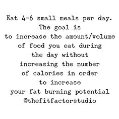 fat loss 6 meals a day 6 Meals A Day, Small Meals, Fun Workouts, Fat Burning, Fitness Tips, Eat, Fitness Hacks