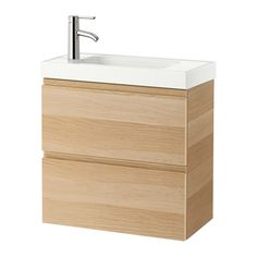 GODMORGON / HAGAVIKEN Wash-stand with 2 drawers - white stained oak effect - IKEA