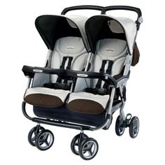 Peg Perego 2011 Aria Twin 60 40 with a Diaper Bag - Java The ideal double stroller for parents with children of different ages Aria Twin s side accommodates a
