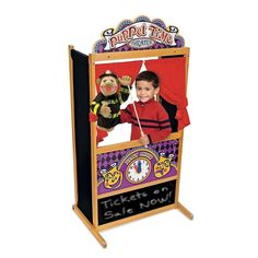 Wooden Childrens Puppet Theater Play Set Home Or School Indoor & Outside Fun New #MelissaDoug