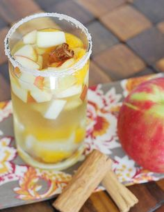 Honeycrisp Apple Sangria is the perfect drink for brunch this fall! Garnish this cocktail with cinnamon sticks for extra flavor.