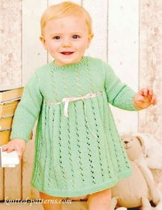 FREE PATTERN...Dress for little girl free knitting pattern