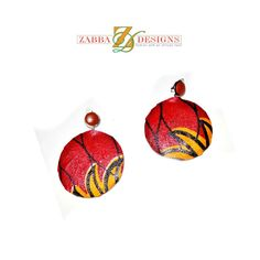 Red And Yellow African Earrings