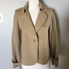 Talbots Petites   Fabulous Jacket Size 14P In excellent condition ,lightweight but warm soft and cozy jacket . Fabric 90%wool 10%nylon Talbots Jackets & Coats