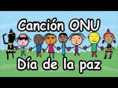 Canción ONU Naciones Unidas, Día de la Paz Día de la raza LETRA preescolar primaria - YouTube Middle School Spanish, Montessori, Acting, Religion, Family Guy, Teacher, America, Education, Fictional Characters